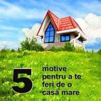 Cinci motive pentru a te feri de o casă mare - Articole
