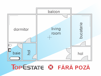de inchiriat apartament cu 2 camere semidecomandat,  confort 1 in bucuresti