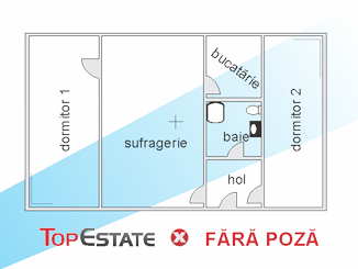 de vanzare apartament cu 3 camere nedecomandat,  confort 3 in constanta