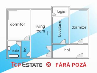 de vanzare apartament cu 3 camere semidecomandat,  confort 1 in constanta