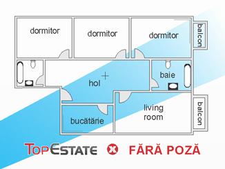 de inchiriat apartament cu 4 camere decomandat,  confort 1 in bucuresti