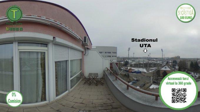 vanzare apartament decomandat, zona UTA, orasul Arad, suprafata utila 103 mp