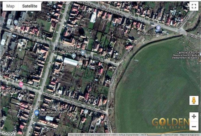 Teren vanzare de 406 metri patrati, intravilan. 34.500 euro negociabil. Utilitati: Gaze, Apa, Canalizare. Teren  Arad