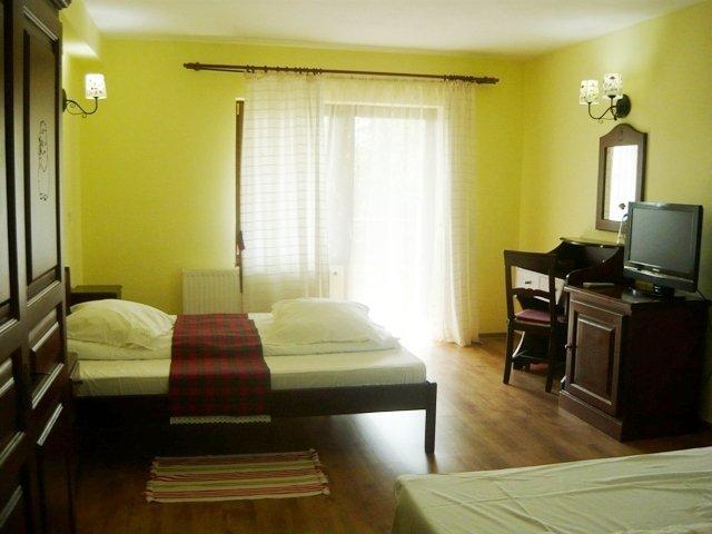 Mini hotel / Pensiune de vanzare, cu 10 dormitoare, 12 camere, cu 13 grupuri sanitare, suprafata utila 730 mp. Suprafata terenului 2250 metri patrati, deschidere 30 metri. Pret: 525 euro negociabil.