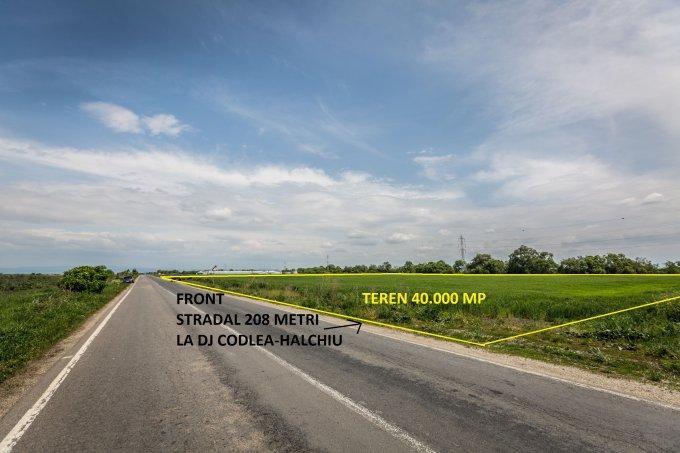 Teren extravilan de vanzare direct de la agentie imobiliara, in Codlea, cu 80.000 euro. Suprafata de teren agricol 40000 metri patrati cu deschidere de 208 metri.