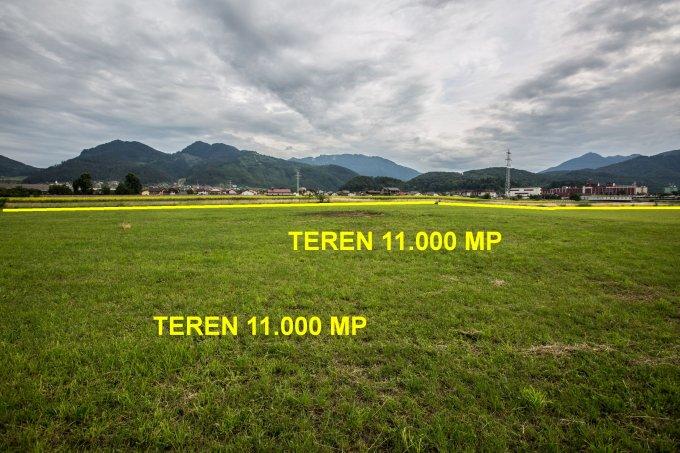 Teren agricol extravilan de vanzare in Sacele. Suprafata terenului 11000 metri patrati, deschidere 48 metri. Pret: 275.000 euro. Utilitati: Curent electric 220V, Curent electric 380V, Apa, Canalizare.