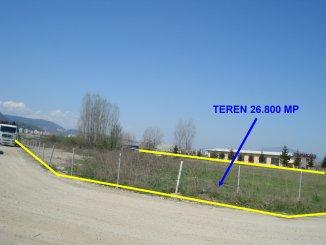 vanzare teren intravilan de la agentie imobiliara cu suprafata de 26800 mp, in zona Uzina 2, orasul Brasov