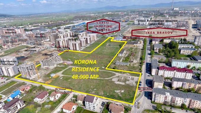 Teren intravilan de vanzare direct de la proprietar, in Brasov, cu 1 EUR negociabil. Suprafata de teren 48000 metri patrati cu deschidere de 1 metri.  Destinatie: Rezidenta, Vacanta, (mini) Hotel / Pensiune.