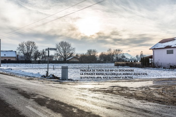 Teren intravilan de vanzare direct de la agentie imobiliara, in Brasov, zona Stupini, cu 25.500 euro. Suprafata de teren 510 metri patrati cu deschidere de 15 metri.  Destinatie: Rezidenta.