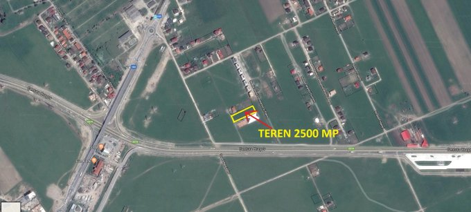 de vanzare teren intravilan cu suprafata de 2500 mp si deschidere de 27 metri. In comuna Sanpetru. Utilitati: Curent electric 220V.