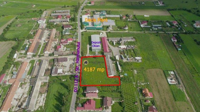 de vanzare teren intravilan cu suprafata de 4187 mp si deschidere de 80 metri. In comuna Bod. Utilitati: Gaze, Curent electric 220V, Apa.