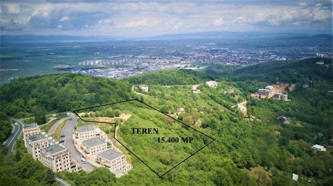 Teren intravilan de vanzare in Brasov, zona Drumul Poienii. Suprafata terenului 15400 metri patrati, deschidere 70 metri. Pret: 2.002.000 euro.
