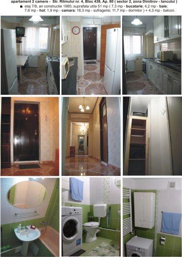 Apartament de inchiriat direct de la proprietar, in Bucuresti, in zona Baicului, cu 290 euro. 1  balcon, 1 grup sanitar, suprafata utila 51 mp. Mobilat modern.