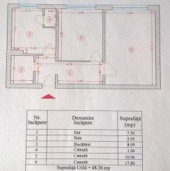vanzare apartament decomandat, zona Piata Sudului, orasul Bucuresti, suprafata utila 48 mp