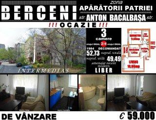 Apartament cu 2 camere de vanzare, confort 1, zona Aparatorii Patriei, Bucuresti