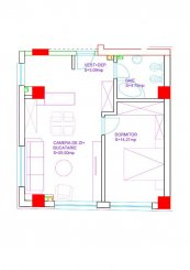 vanzare apartament cu 2 camere, semidecomandat, in zona Domenii, orasul Bucuresti