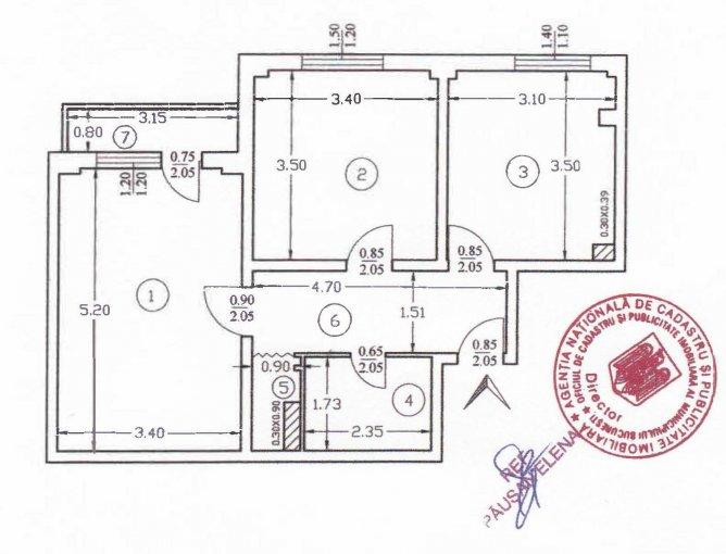 Apartament de vanzare direct de la proprietar, in Bucuresti, in zona Margeanului, cu 58.000 euro negociabil. 1 grup sanitar, suprafata utila 55 mp.