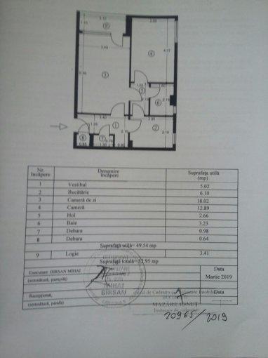 Apartament de vanzare in Bucuresti cu 2 camere, cu 1 grup sanitar, suprafata utila 51 mp. Pret: 55.000 euro negociabil.