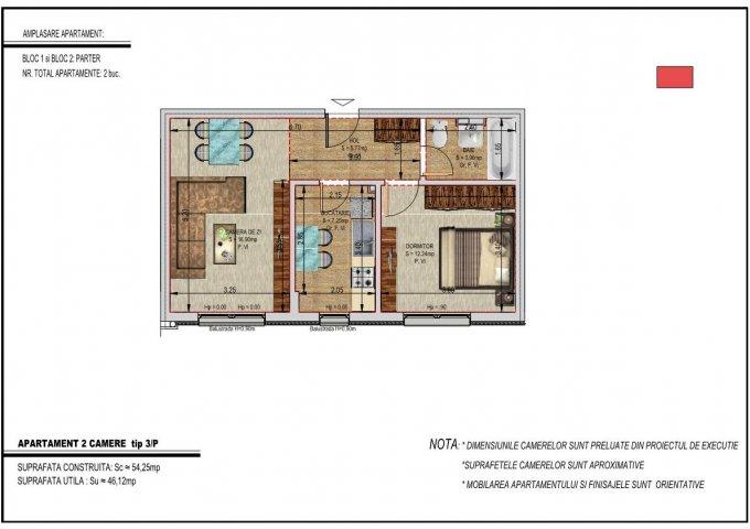 Apartament vanzare Bucuresti 2 camere, suprafata utila 47 mp, 1 grup sanitar. 48.900 euro negociabil. La Parter / 5. Destinatie: Rezidenta, Birou. Apartament Metalurgiei Bucuresti