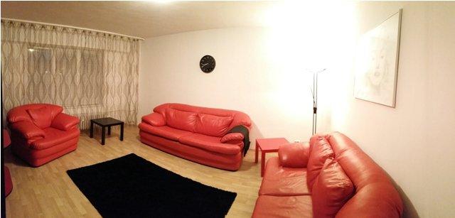 Apartament de inchiriat in Bucuresti cu 2 camere, cu 1 grup sanitar, suprafata utila 61 mp. Pret: 470 euro. Mobilat.