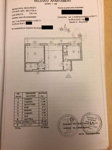 vanzare Apartament Bucuresti cu 2 camere, cu 1 grup sanitar, suprafata utila 57 mp. Pret: 45.000 euro negociabil. Incalzire: Incalzire prin termoficare. Racire: Aer conditionat.
