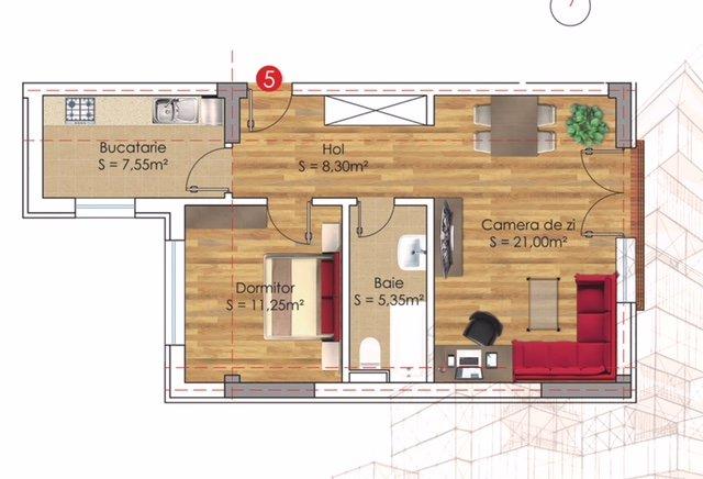 Apartament de vanzare direct de la dezvoltator imobiliar, in Bucuresti, in zona Militari, cu 57.600 euro negociabil. 1 grup sanitar, suprafata utila 59 mp.