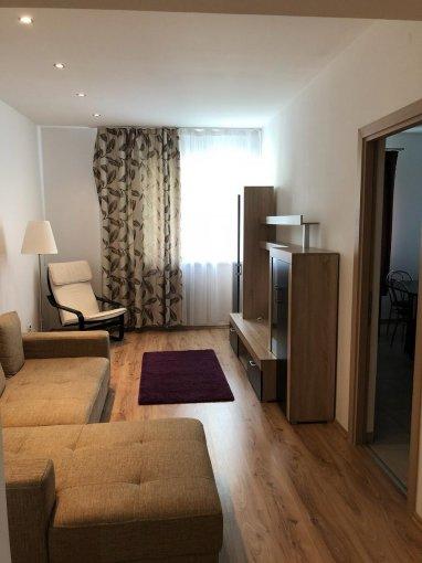 Apartament de inchiriat in Bucuresti cu 2 camere, cu 1 grup sanitar, suprafata utila 65 mp. Pret: 450 euro. Usa intrare: Metal. Mobilat modern.
