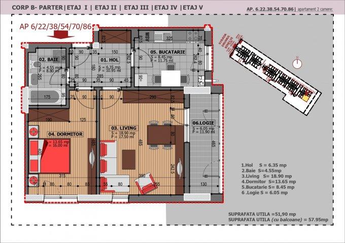 Apartament vanzare Metalurgiei cu 2 camere, etajul 1 / 5, 1 grup sanitar, cu suprafata de 56 mp. Bucuresti, zona Metalurgiei.