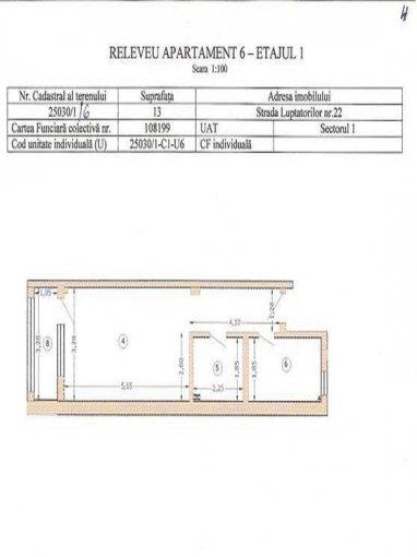 vanzare apartament decomandata, zona Damaroaia, orasul Bucuresti, suprafata utila 53 mp