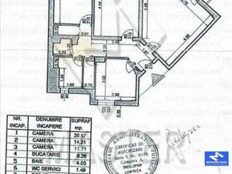 vanzare apartament decomandat, zona Aviatiei, orasul Bucuresti, suprafata utila 75 mp
