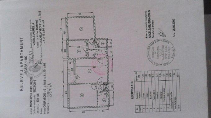 Apartament de vanzare in Bucuresti cu 3 camere, cu 1 grup sanitar, suprafata utila 62 mp. Pret: 51.900 euro negociabil. Usa intrare: Metal.