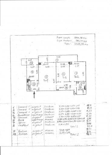 vanzare Apartament Bucuresti cu 3 camere, cu 1 grup sanitar, suprafata utila 72 mp. Pret: 64.000 euro negociabil. Incalzire: Incalzire prin termoficare. Racire: Aer conditionat.