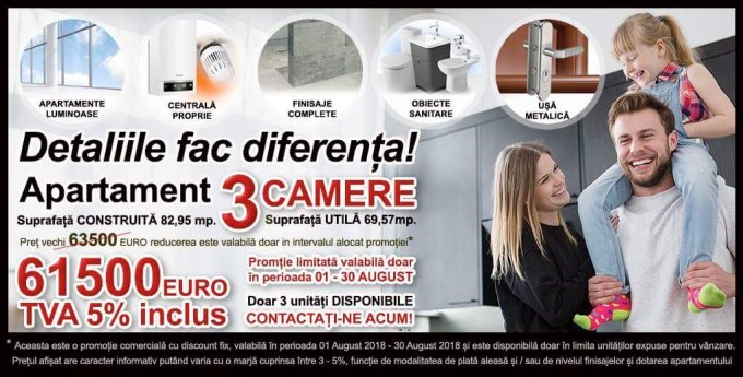 Apartament de vanzare direct de la proprietar, in Bucuresti, in zona Militari, cu 61.500 euro. 1  balcon, 2 grupuri sanitare, suprafata utila 70 mp.