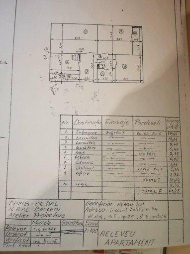 Apartament de vanzare direct de la proprietar, in Bucuresti, in zona Brancoveanu, cu 82.000 euro. 1  balcon, 1 grup sanitar, suprafata utila 64 mp.