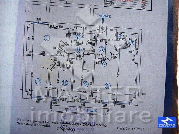 vanzare apartament decomandat, zona Dorobanti, orasul Bucuresti, suprafata utila 110 mp