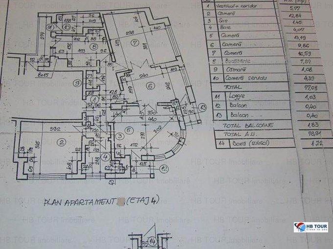 Bucuresti, zona Foisorul de Foc, apartament cu 4 camere de inchiriat, Mobilat