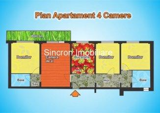 vanzare apartament semidecomandat, zona Titan, orasul Bucuresti, suprafata utila 91 mp