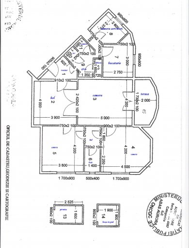 vanzare apartament cu 4 camere, semidecomandat, in zona Dacia, orasul Bucuresti