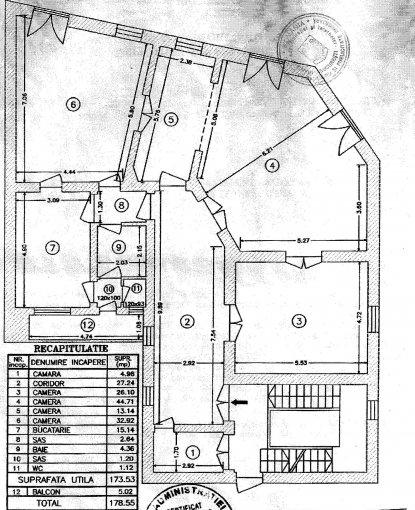 vanzare apartament cu 4 camere, semidecomandata, in zona Victoriei, orasul Bucuresti