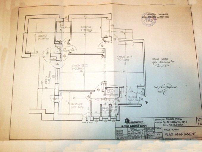vanzare apartament cu 4 camere, semidecomandat-circular, in zona Magheru, orasul Bucuresti