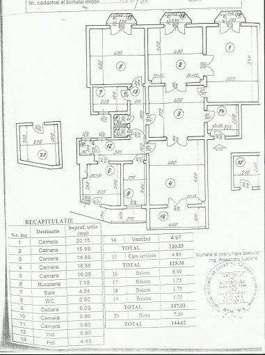 Bucuresti, zona Universitate, apartament cu 5 camere de inchiriat, Nemobilat