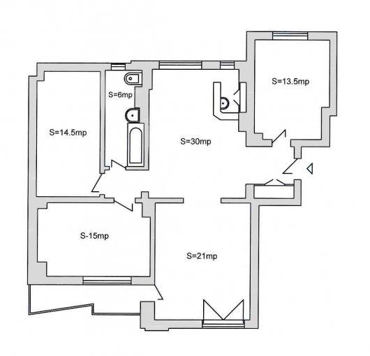 Bucuresti, apartament cu 5 camere de inchiriat, Nemobilat