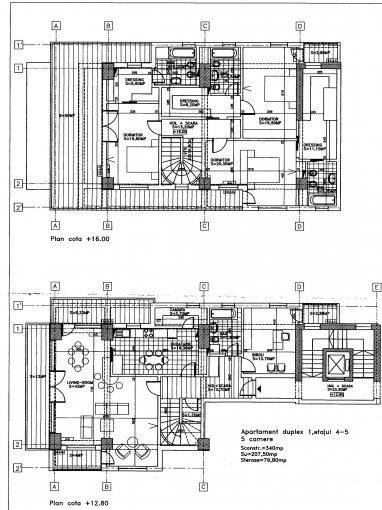 Duplex cu 5 camere de vanzare, confort Lux, zona Domenii,  Bucuresti