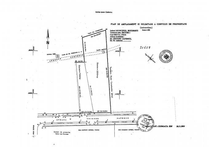 Teren intravilan de vanzare direct de la agentie imobiliara, in Bucuresti, zona Satul Francez, cu  EUR. Suprafata de teren 3000 metri patrati cu deschidere de 36 metri.  Destinatie: Rezidenta, Birou, Comercial, Centru de afaceri.