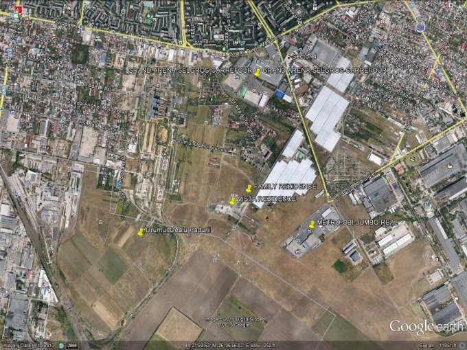 de vanzare teren intravilan cu suprafata de 5500 mp si deschidere de 156 metri. In orasul Bucuresti, zona Berceni.