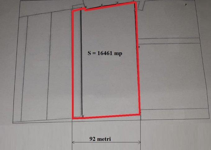 Teren intravilan de vanzare in Cluj Napoca, zona Iris. Suprafata terenului 16461 metri patrati, deschidere 92 metri. Pret:  EUR. Destinatie: Hala productie, Depozit.