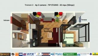 vanzare apartament cu 2 camere, decomandat, in zona Campus, orasul Constanta
