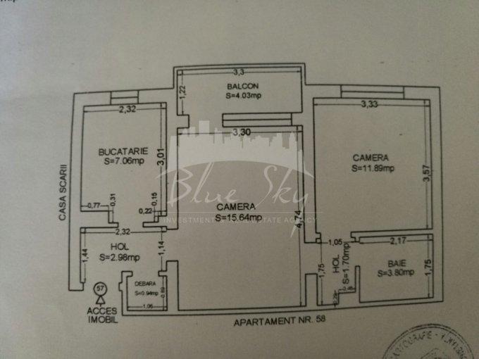 Apartament de vanzare in Constanta cu 2 camere, cu 1 grup sanitar, suprafata utila 48 mp. Pret: 50.000 euro negociabil.