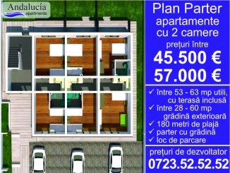 vanzare apartament cu 2 camere, semidecomandat, in zona Mamaia Nord, orasul Constanta