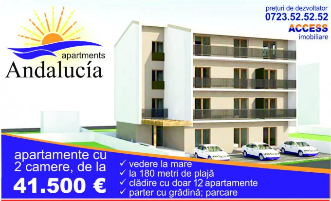 Apartament de vanzare in Constanta cu 2 camere, cu 1 grup sanitar, suprafata utila 44 mp. Pret: 45.500 euro. Usa intrare: Metal.